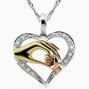 Jewelry - Mom Child Hand Heart Pendant 5 for $25